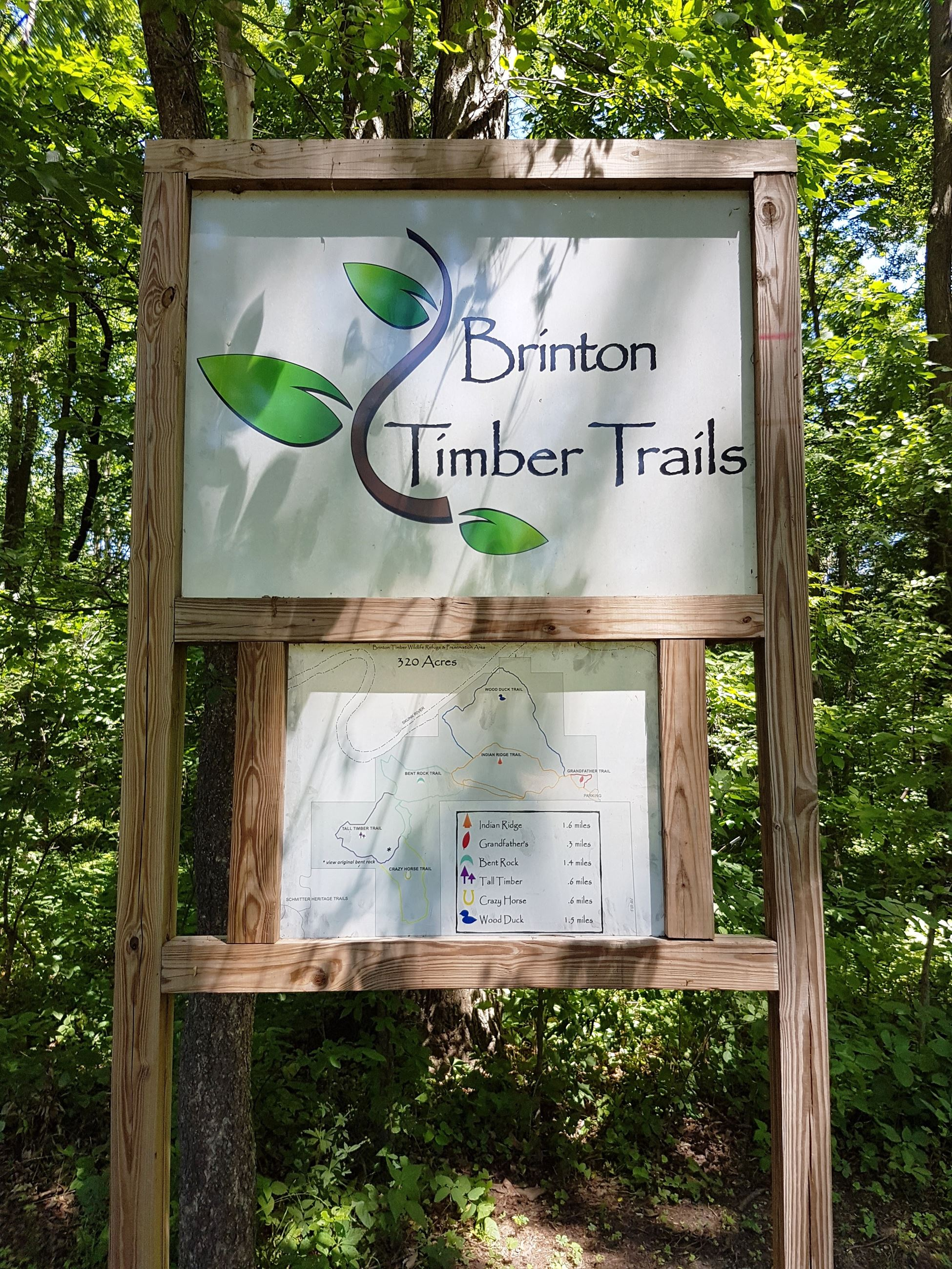 Brinton Timber - Trail Sign