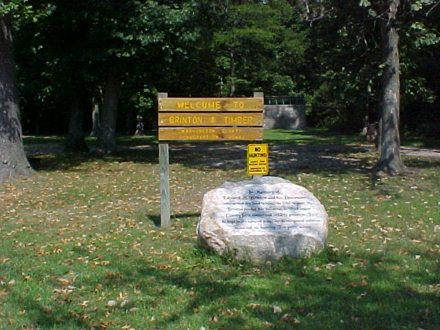 Brinton Timber Entrance Sign and Rock